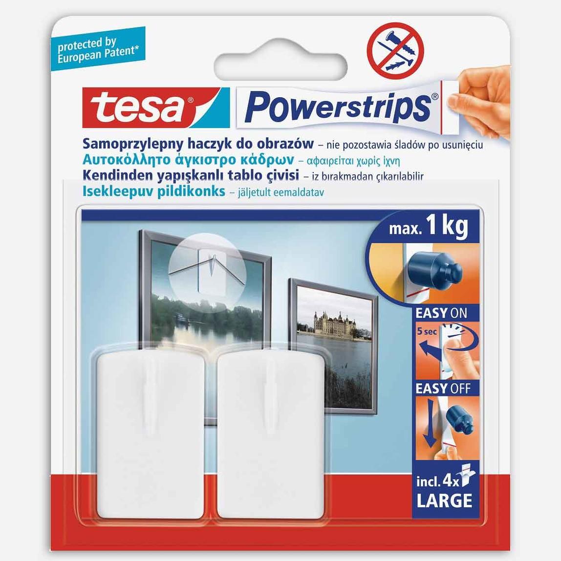 Tesa Powerstrips Çerçeve Askısı Kendinden Yapışkanlı, Çıkarılabilir