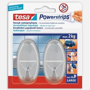 Tesa Powerstrips Askı Büyük Oval Kendinden Yapışkanlı, Çıkarılabilir