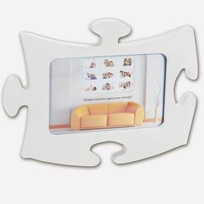 Tekli Puzzle Çerçeve Beyaz