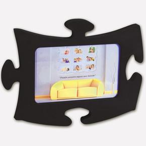 Tekli Puzzle Çerçeve Siyah