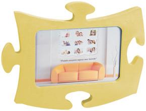 Tekl Sarı Puzzle Çerçeve Puzzle Sarı