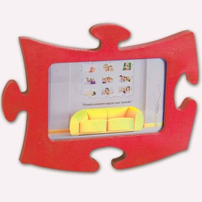 Tekli Puzzle Çerçeve Kırmızı
