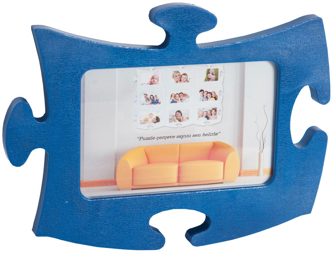Tekli Lacivert  Puzzle Çerçeve Puzzle Lacivert