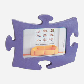 Tekli Lila  Puzzle Çerçeve Puzzle Lila