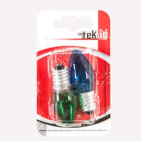 E14 Gece Lambası Ampul 2 Adet Renkli