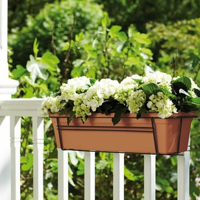 Elho Green Basics Balkon Saksısı Kahve 50 cm