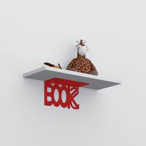 Decormet Book Raf Seti Kırmızı - Parlak Beyaz