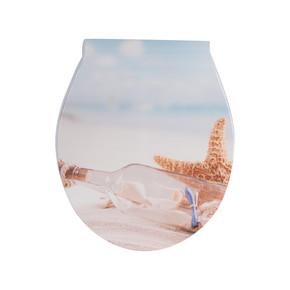 Japar Kumsal Desenli Yavaş Kapanır Klozet Kapağı
