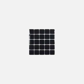 Yapışkanlı Keçe,20X20 mm 25'Li Siyah