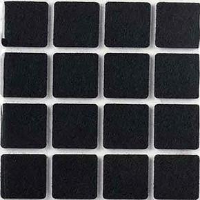 Yapışkanlı Keçe,25X25 mm 16'Li Siyah