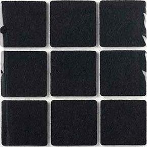 Yapışkanlı Keçe,35X35 mm 9 'Lu Siyah