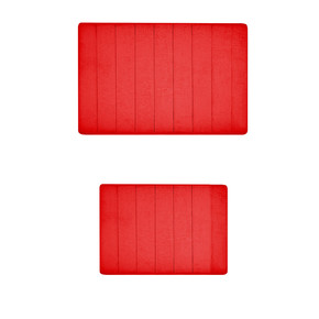 Memory Banyo Halısı 2' li Kırmızı