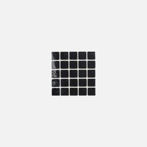 20X20 mm Siyah, 25'Li Keçe  Eva
