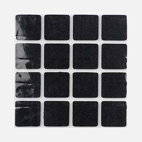 25X25 mm Siyah, 16'Li Keçe Eva