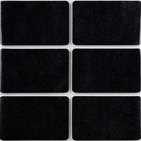 35X55 mm Siyah, 6'Lı Keçe Eva