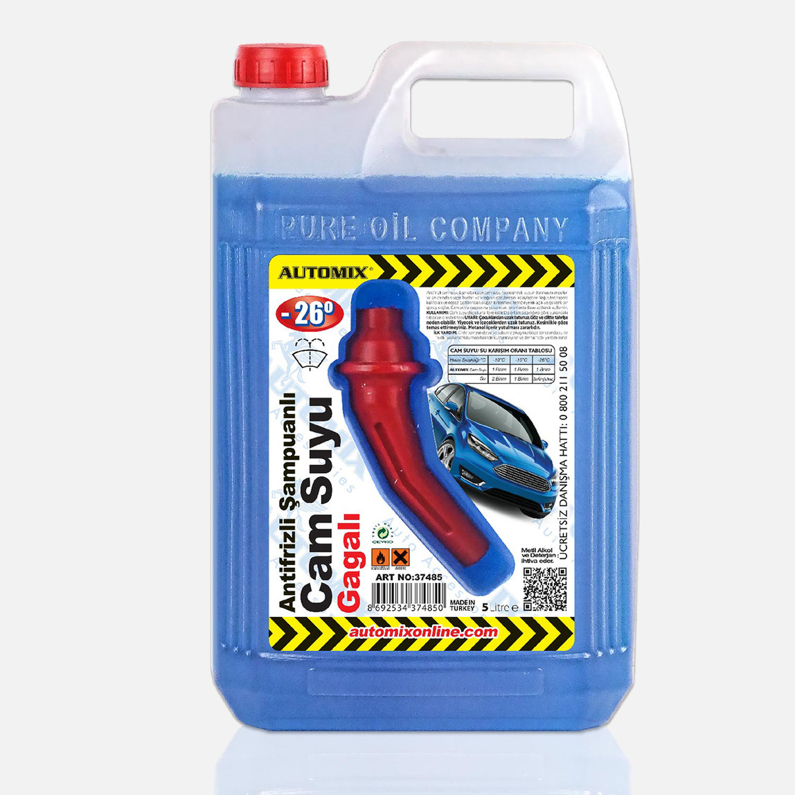 Automix Antifrizli Cam Suyu Çeşitli Miktarlarda