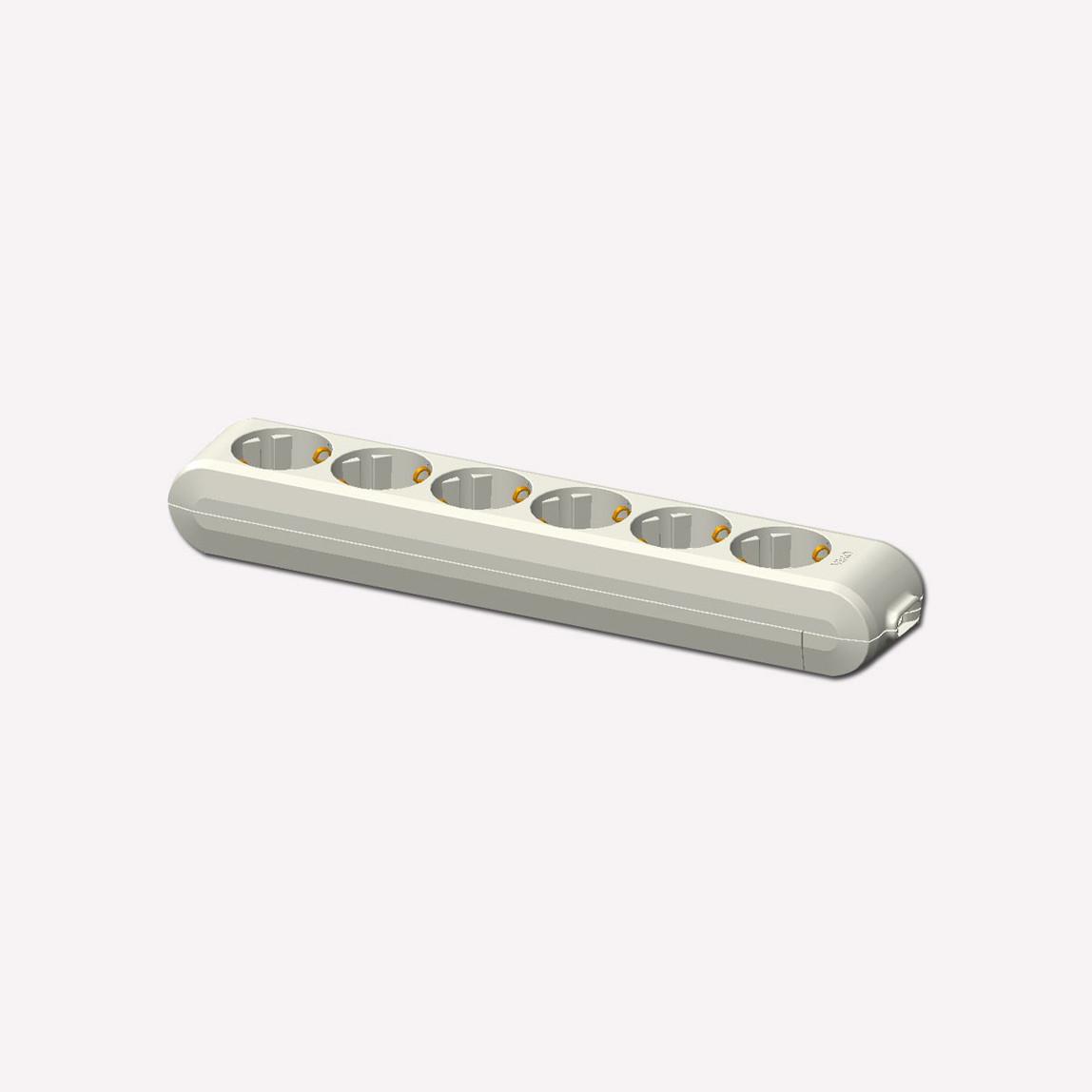Viko Multi-Let 6'lı Topraklı Kablolu Çocuk Korumalı 1 Metre Priz Beyaz