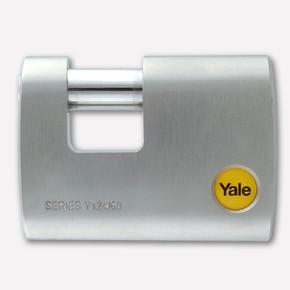 Yale Krom Kaplamalı Dış Mekan Asma Kilit - Kayar Pimli 60 mm
