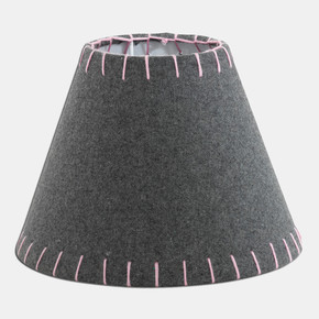 Eglo Abajur Şapkası E-14 Gri Pembe