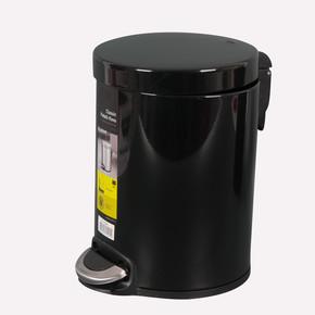 Primanova Softclose Pedallı Çöp Kovası Siyah 5 Lt