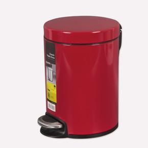 Primanova Softclose Pedallı Çöp Kovası Kırmızı 5 Lt