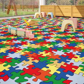 Puzzle Duvardan Duvara Çocuk Halısı