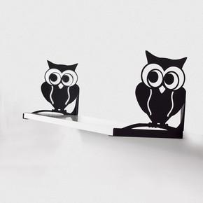 Decormet Kuş Raf Seti Siyah - Parlak Beyaz