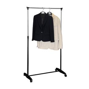 Stabilit Tekli Tekerlekli Elbise Askısı Siyah