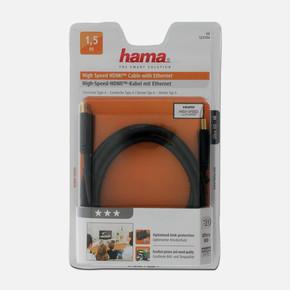 Hama HS Ethernet Altın Uçlu 3S 15 m HDMI Kablo