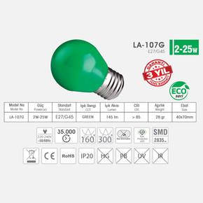 Star Led 2 W 2835 220V Ampul Yeşil Renk