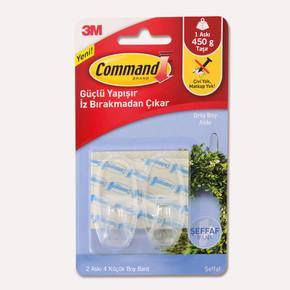3M Command 17092 2'li Küçük Boy Şeffaf Askı