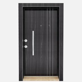 Kroma Parlak Metalik Karaağaç Çelik Kapı Hg