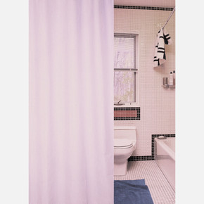 Tekstil Banyo Perdesi Puzzle Pembe