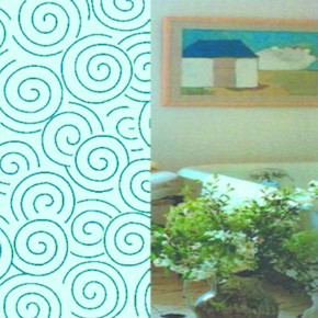 Tekstil Banyo Perdesi Olympic Mavi