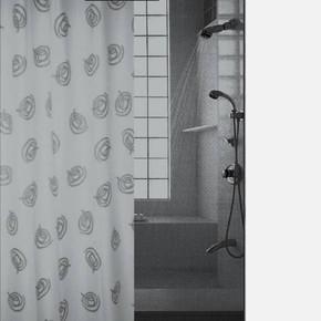 Tekstil Banyo Perdesi Olympic Siyah