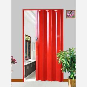Highgloss Akordiyon Kapı Kırmızı Kilitli Kol