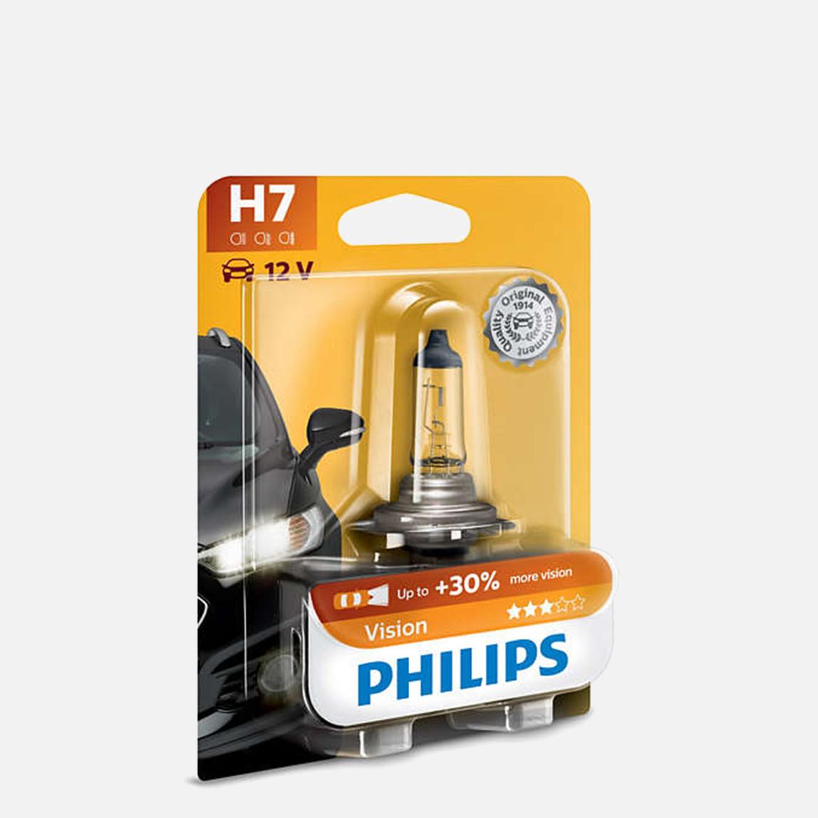 Philips H7 Vision H4 12V 55W Halogen Oto ampul