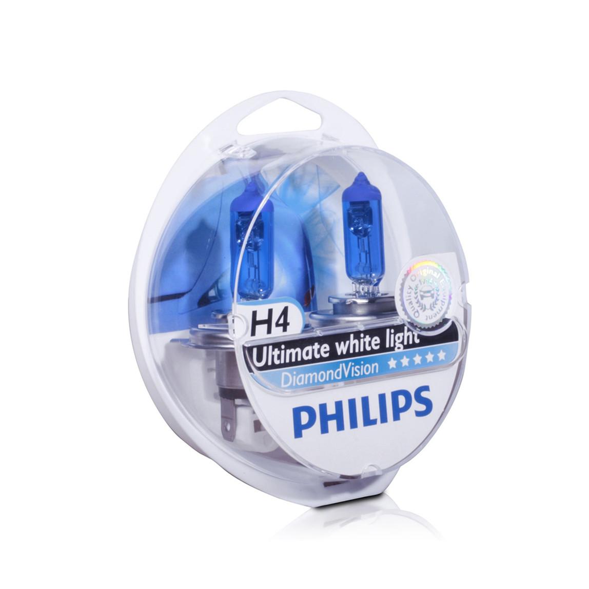 H4 Diamond Vision 5000K Ultra Beyaz Işık Far Ampül Seti