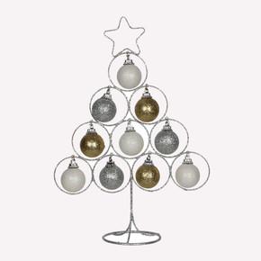 Dekoratif Metal Yılbaşı Ağacı Gümüş
