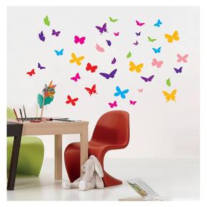 Renkli Kelebekler Sticker