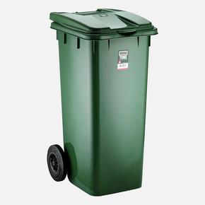 Mono Tone Pedallı Çöp Kovası Yeşil 120 Litre