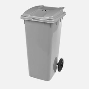 Mono Tone Pedallı Çöp Kovası Gri 120 Litre