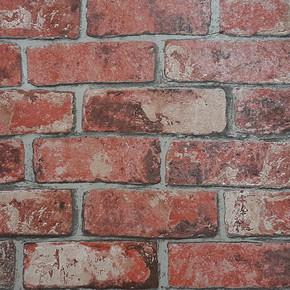 Kırmızı Tuğla Vinyl Duvar Kağıdı