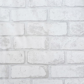 Beyaz Tuğla Vinyl Duvar Kağıdı
