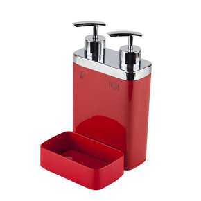 Viva 2' li Sıvı Sabunluk Süngerli Kırmızı