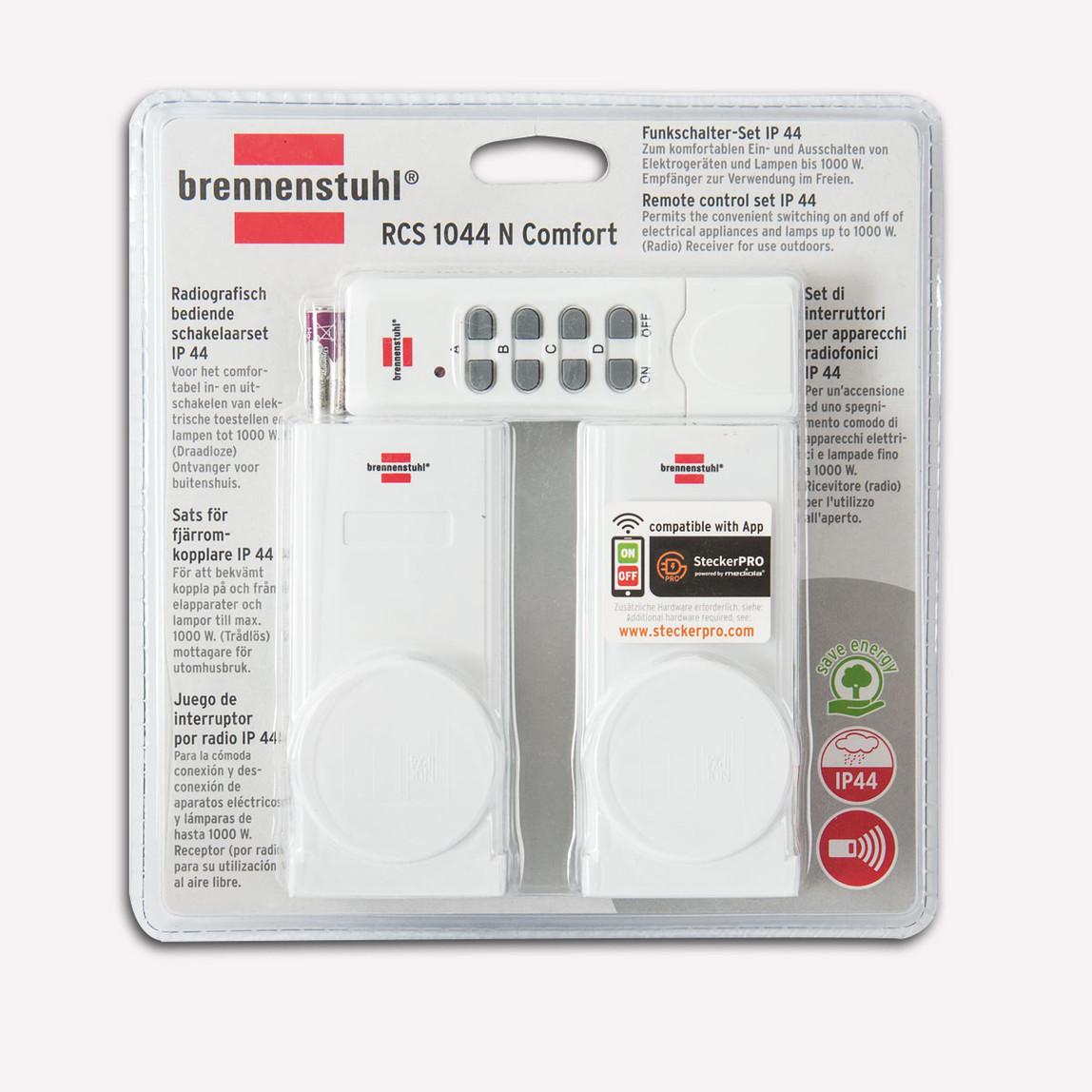 Brennenstuhl RCS1044 N Comfort 2'li Uzaktan Kumandalı Priz Set