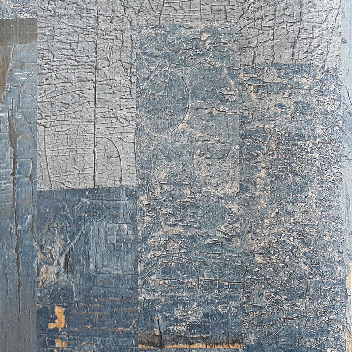 Kabuk Mavi Vinyl Duvar Kağıdı