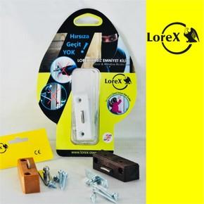 LOREX LR-WK Pencere Emniyet Kilidi (Kahve Renk)