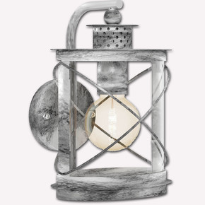 Hilburn1 Serisi Aşağı Aplik Gümüş