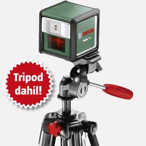 Bosch Quigo Plus Çapraz Lazer Mesafe Ölçer (Tripod Dahil)